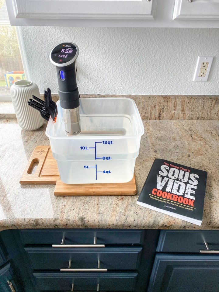 anova sous vide machine with cookbook