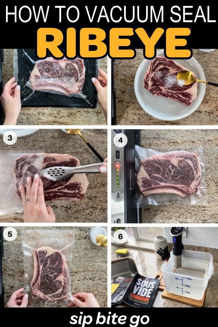 how to season and vacuum seal ribeye step by step