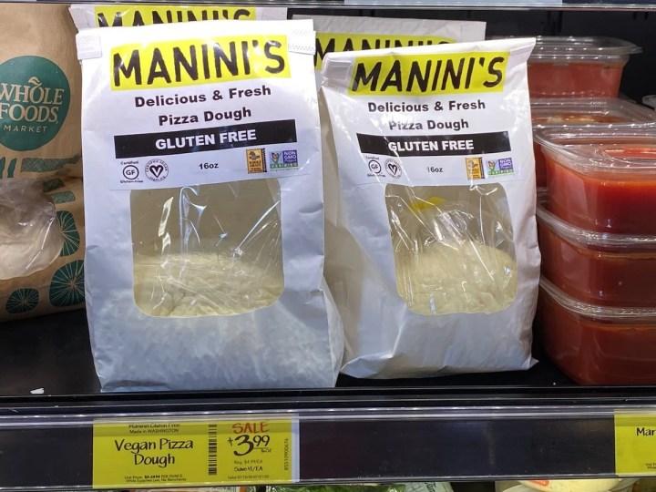 Manini's gluten free grocery store pizza crust
