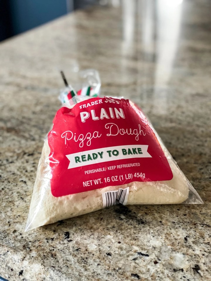 bag of trader joe's plain pizza dough
