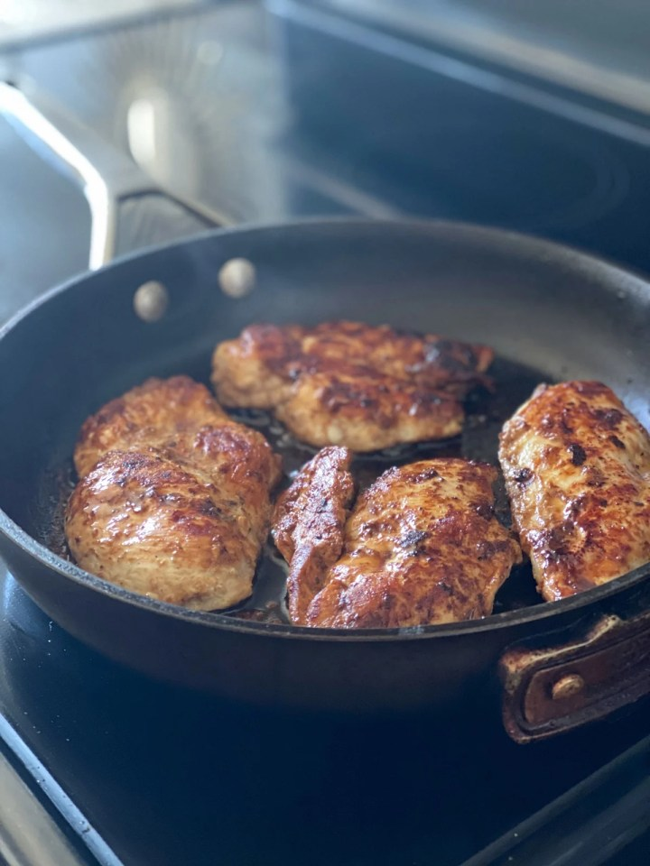 Oven Baking Chicken Breasts In Balsamic Dressing