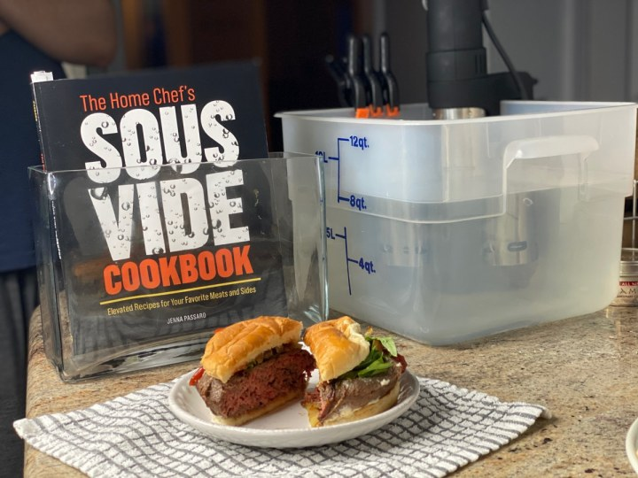 sous vide burgers recipe from the home chef's sous vide cookbook and anova machine