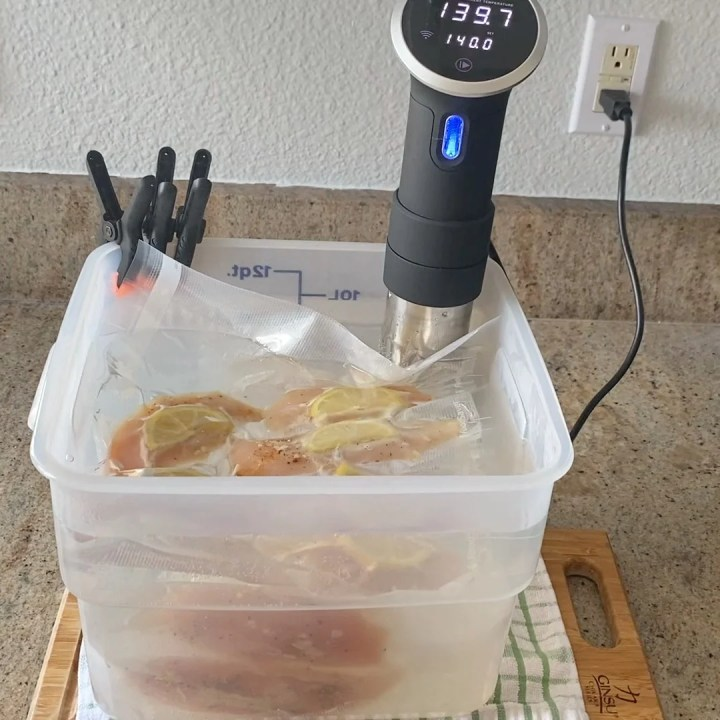 sous vide chicken breast with anova sous vide machine
