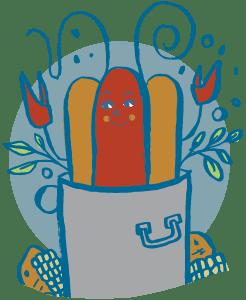 Crawfish hotdog