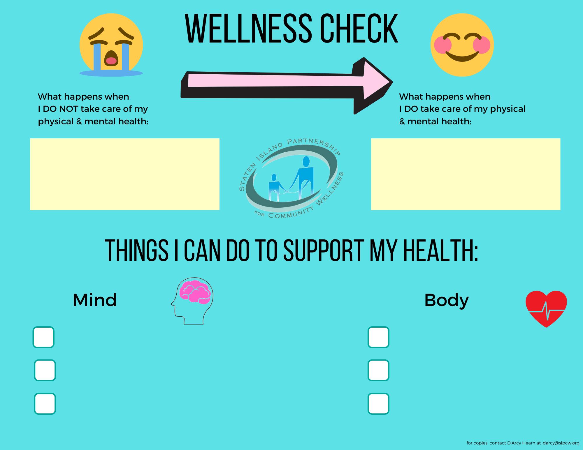 Wellness Check Worksheet