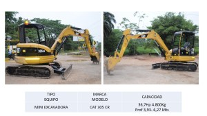 Mini Excavdora CAT 305 CR