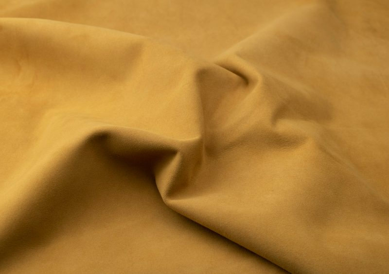 Silky suede dark curry Sipo l6r250s - leather for garments without lining