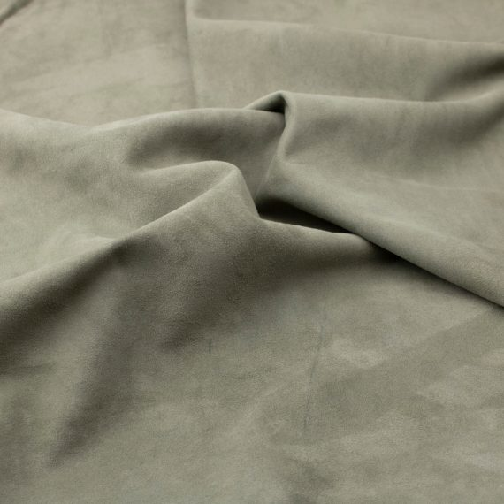 Silky suede dusty green Sipo l6r715s - leather for garments without lining