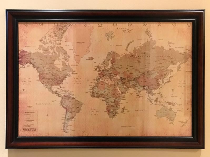 Valentine's Day Gift for Traveler World Map