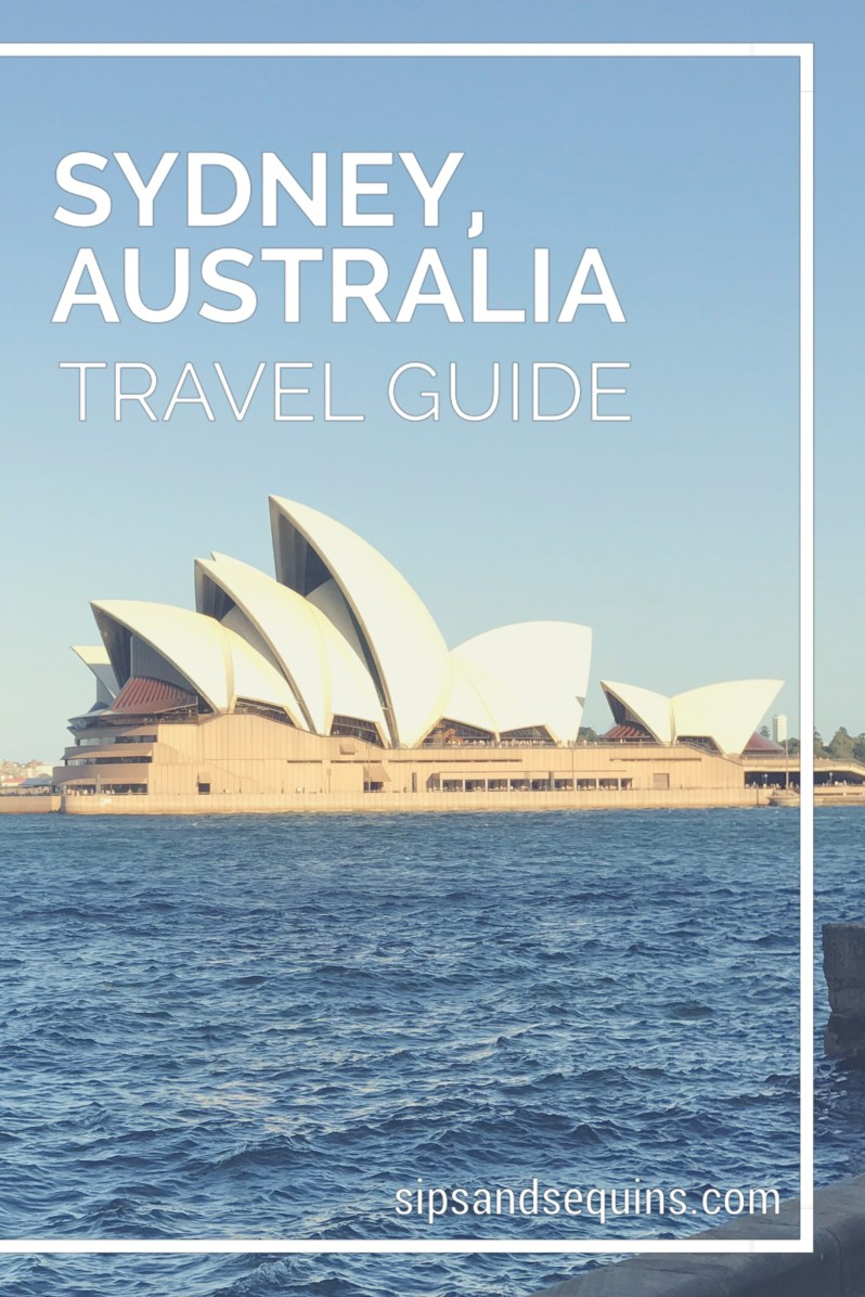 Sydney Australia Travel Guide Pinterest Graphic