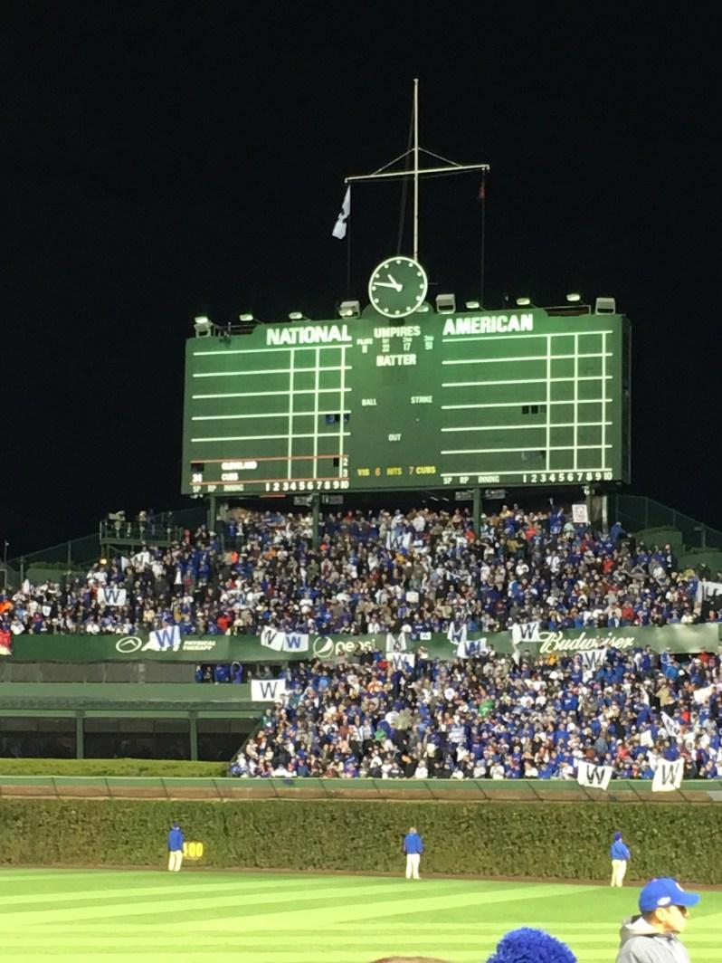 Chicago Cubs Scoreboard
