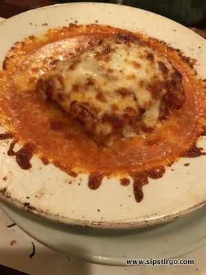 Il Pescatore - the lasagna was well seasoned and delicious.