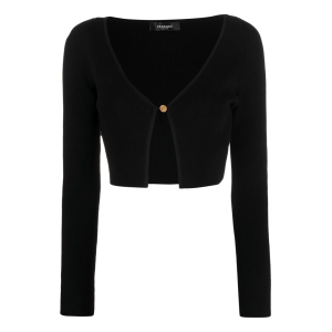 Versace ribbed-knit cropped cardigan