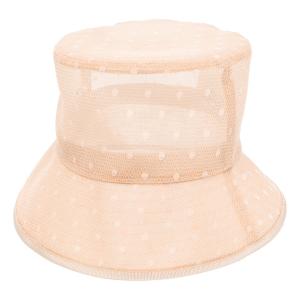 RED Valentino polka-dot mesh hat