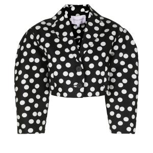 Carolina Herrera polka dot cropped jacket