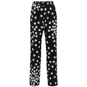 VALENTINO Valentino polka-dot silk straight pants