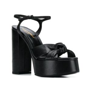Saint Laurent knot detail 145mm platform sandals