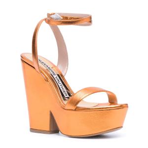 Alexandre Vauthier metallic-effect leather platform sandals