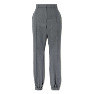 ALEXANDER MCQUEEN Pleated wool-flannel tapered pants