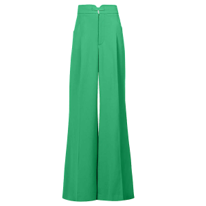 ROLAND MOURET Morley wide-leg high-rise crepe trousers