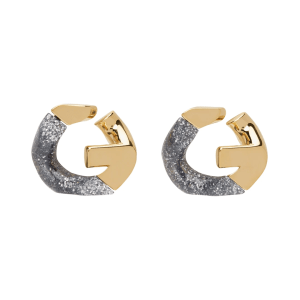 GIVENCHY Gold & Silver G Chain Earrings