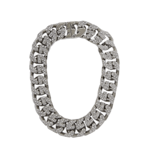 GIVENCHY G-Chain crystal-embellished silver-toned necklace