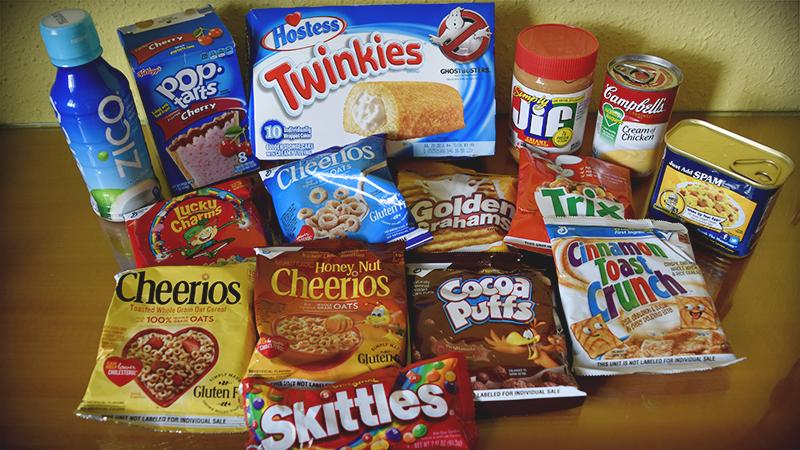 Dulces y comida EEUU