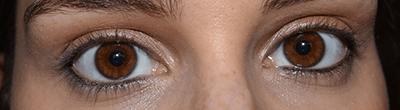 ojos sin mascara de pestañas