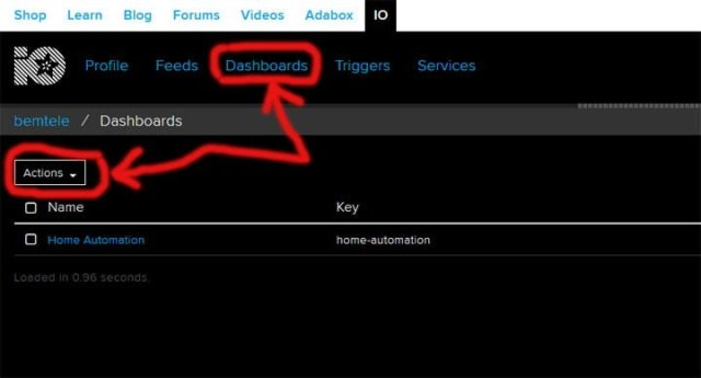 Google home appliance control creating dashboard
