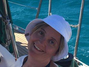 Claudia, felicità dopo una bolina