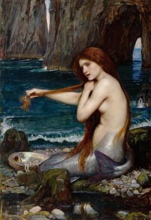 """Sirene: """"Una sirena"""" di John William Waterhouse"""