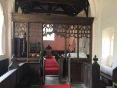 Image of interior of St Margaret of Antioch, Bygrave, Hertfordshire