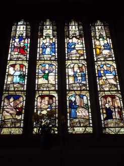 Image showing one of the many glorious windows at the church of St Anietus, St Neot, Cornwall.