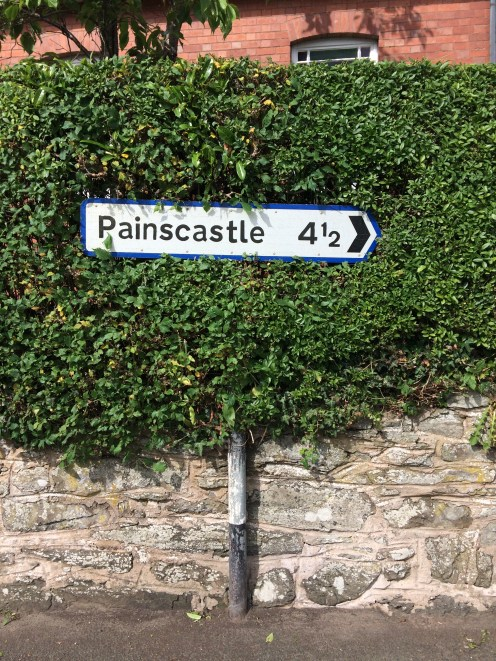 Image of sign leading to Painscastle