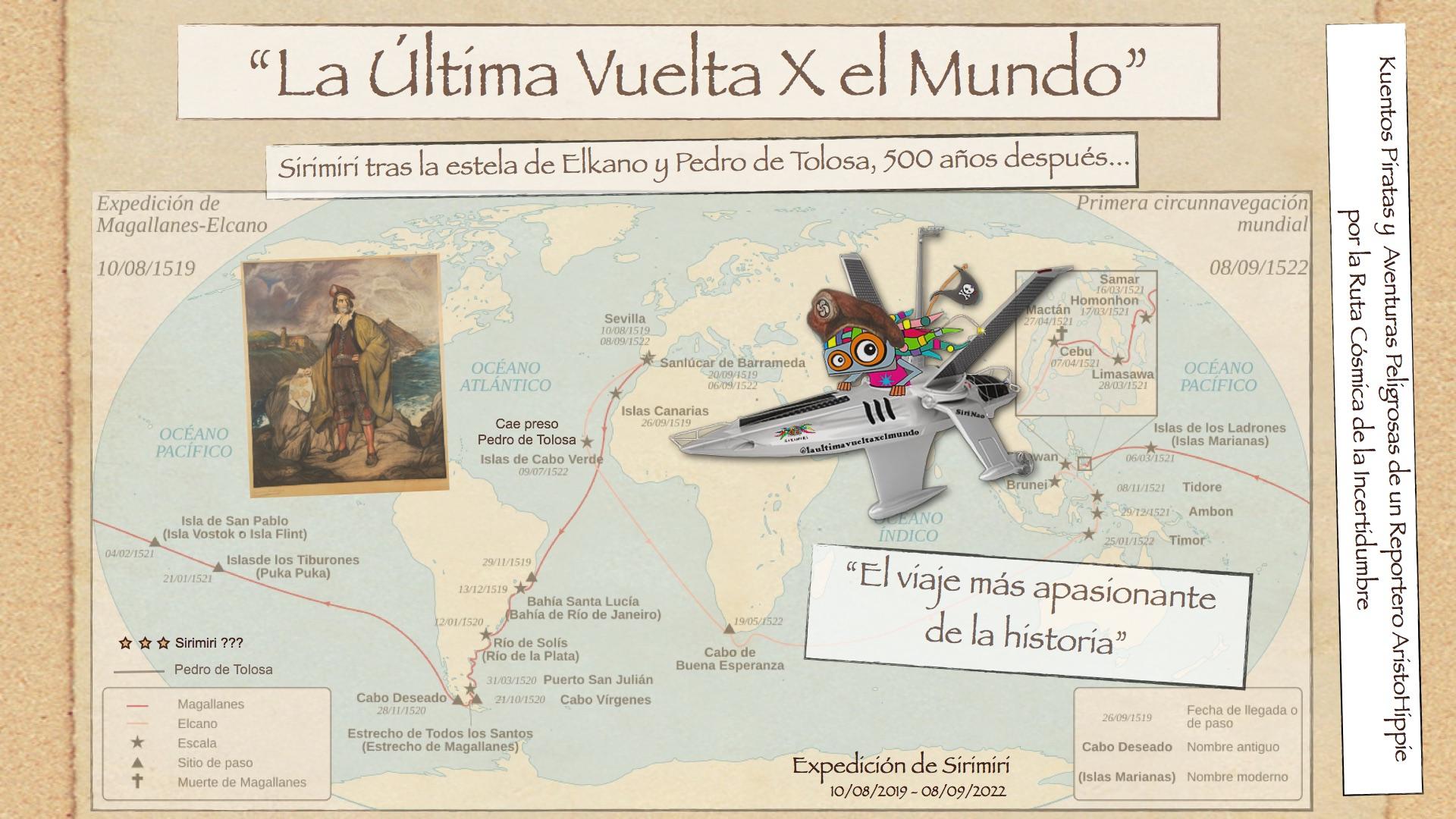 «La última Vuelta X El Mundo» Sirimiri Tras La Estela De Elkano Y Pedro De Tolosa…500 Años Después.