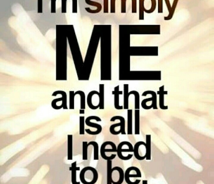 I am simply ME! #Tag