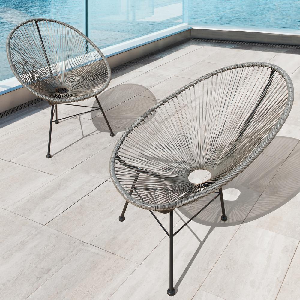 sirio hidalgo wicker patio chairs 2pk grey