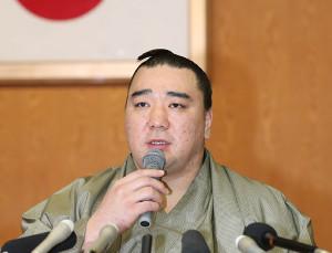 日馬富士引退会見 画像