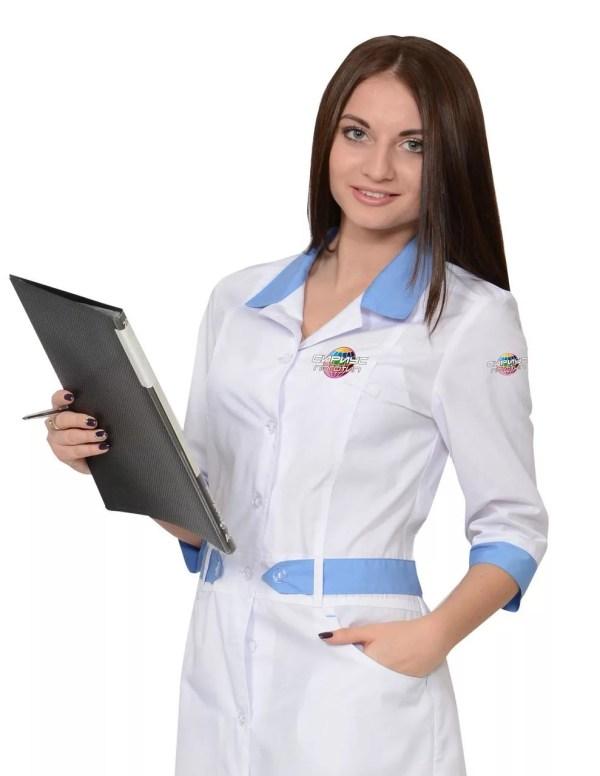 Нанесение логотипа на медицинскую форму по выгодным ценам ...