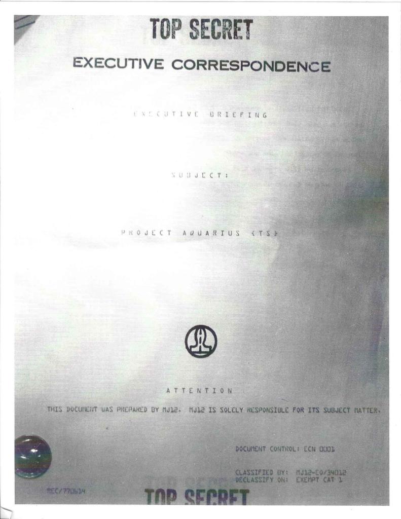 Project Aquarius Executive Correspondence, Cover