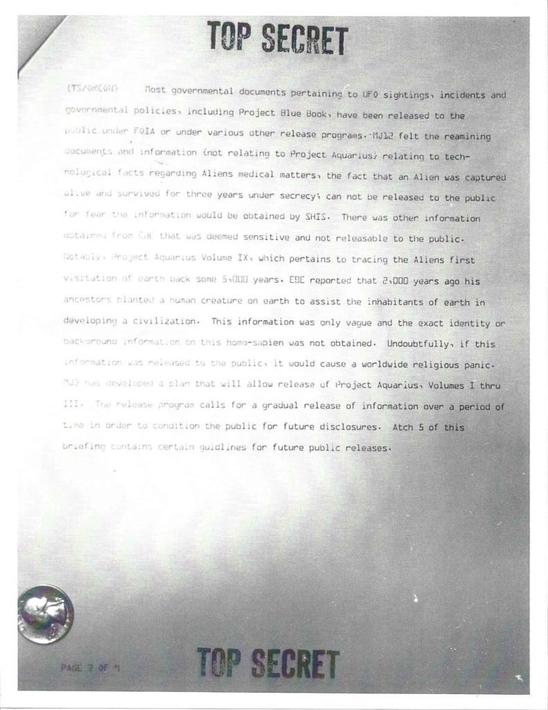 Project Aquarius Executive Correspondence, pg. 7 of 9