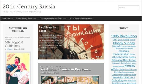 20th-Century Russia Fall 2013 Weekly Digest - Sept. 25 (Screencapture)