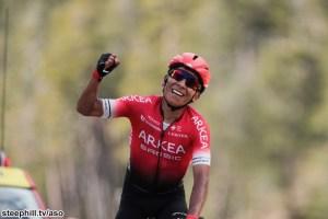 Nairo Quintana winning Stage 7 of Paris-Nice