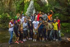 group photo! Many thanks to kalakala safaris for rganising this.