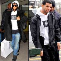 [Photos] Rihanna Spotted Leaving Manchester In Drake's Pigalle Hoodie