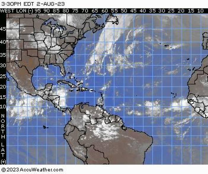Atlantic / Gulf / Caribbean Satellite Map