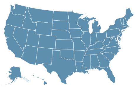 全米地図_全米50州 州名・略号・州都・英語表記