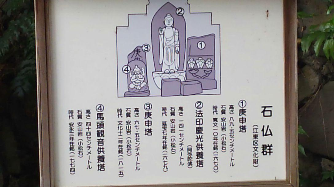 清澄庭園石仏解説