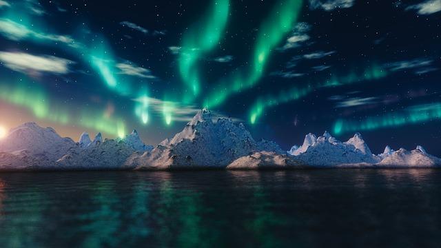 北極のオーロラ