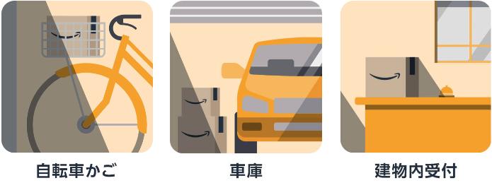 アマゾン置き配指定可能場所ガレージ